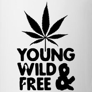 young wild and free weed leaf T-Shirts - Mug