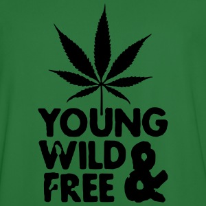 young wild and free weed leaf Sweaters - Mannen voetbal shirt