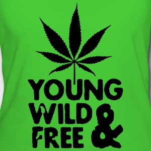 young wild and free weed leaf Tasker - Organic damer
