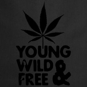 young wild and free weed leaf Hoodies & Sweatshirts - Cooking Apron