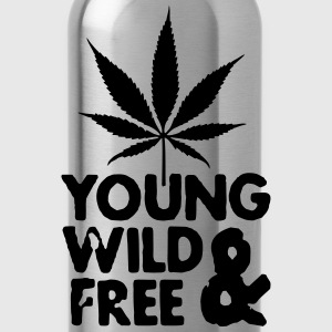 young wild and free weed leaf Pullover & Hoodies - Trinkflasche