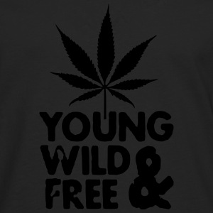young wild and free weed leaf Pullover & Hoodies - Männer Premium Langarmshirt