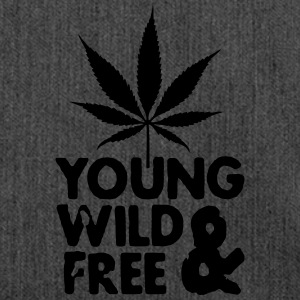 young wild and free weed leaf Pullover & Hoodies - Schultertasche aus Recycling-Material
