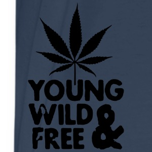 young wild and free weed leaf Bags  - Men's Premium T-Shirt