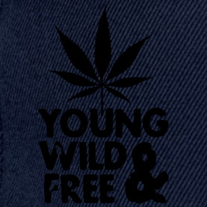 young wild and free weed leaf Bags  - Snapback Cap