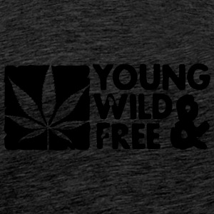young wild and free weed leaf boxed Sudadera - Camiseta premium hombre