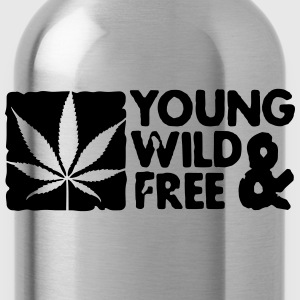 young wild and free weed leaf boxed Hoodies & Sweatshirts - Water Bottle