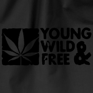 young wild and free weed leaf boxed Kepsar & mössor - Gymnastikpåse