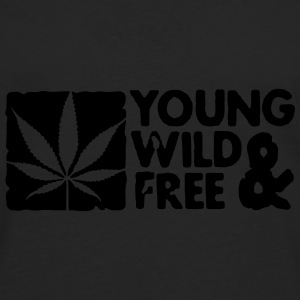 young wild and free weed leaf boxed Gorras - Camiseta de manga larga premium hombre