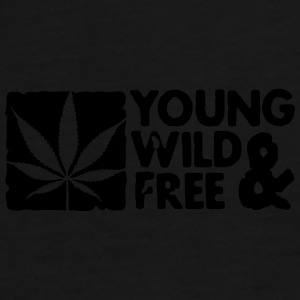 young wild and free weed leaf boxed Väskor - Premium-T-shirt herr