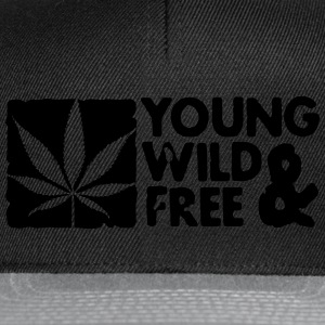 young wild and free weed leaf boxed Borse - Snapback Cap
