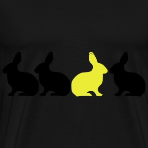 Bunny Rabbit be different! Unique contrast 2c  Aprons - Men's Premium T-Shirt