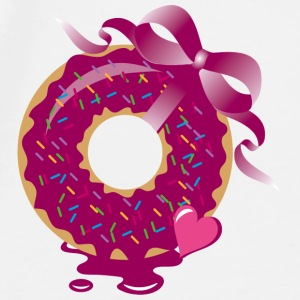 A donut with a ribbon Accessories - Men's Premium T-Shirt