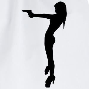 sexy_girl gun T-Shirts - Drawstring Bag