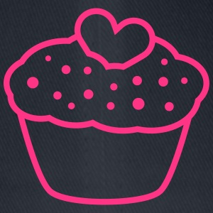 Heart Muffin T-shirts - Flexfit baseballcap