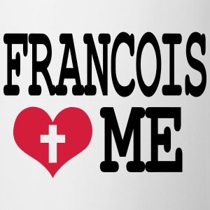 pape francois loves me Badges - Tasse