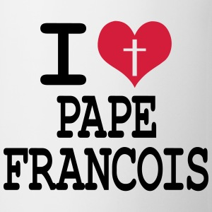 i love pape francois Badges - Tasse