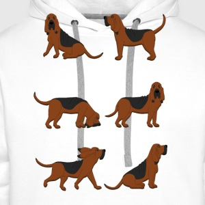 six bloodhounds T-shirts - Mannen Premium hoodie