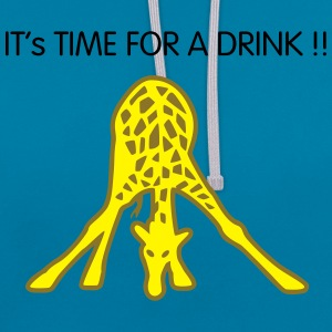 Giraffe Drinking Sacs - Sweat-shirt contraste