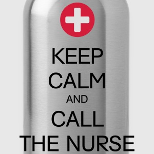 KEEP CALM AND CALL THE NURSE T-Shirts - Trinkflasche