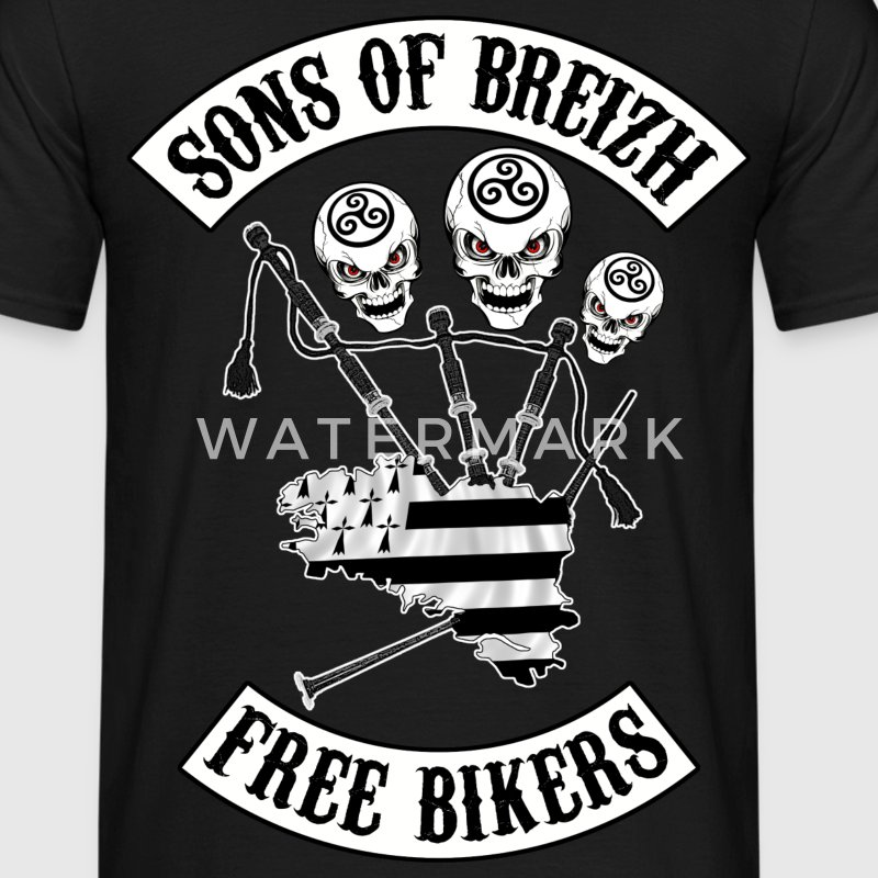 sons of breizh bikers 3 Tee shirts - T-shirt Homme