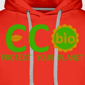 eco bio protect your planet T-shirts - Premiumluvtröja herr