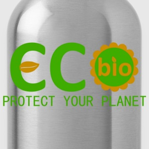eco bio protect your planet T-skjorter - Drikkeflaske