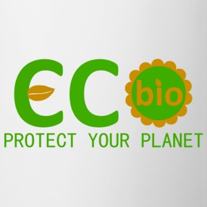 eco bio protect your planet Bolsas - Taza