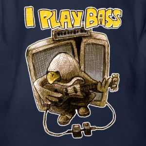 i play bass T-Shirts - Baby Bio-Kurzarm-Body