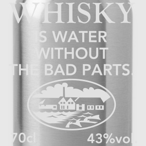 Whisky is water, Label T-Shirts - Water Bottle