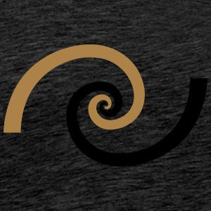 Golden spiral, Fibonacci, Phi, geometry, physics Sweaters - Mannen Premium T-shirt