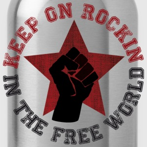 Keep on rockin in the free world T-Shirts - Trinkflasche