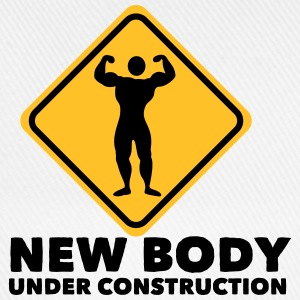new body under construction 2c T-shirts - Baseballkasket