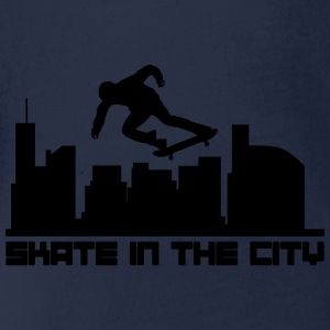Skate in the city Shirts - Organic Short-sleeved Baby Bodysuit