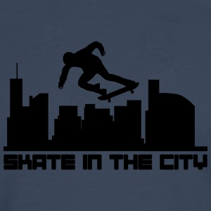 Skate in the city Shirts - Mannen Premium shirt met lange mouwen