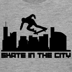 Skate in the city T-shirts - Mannen Premium shirt met lange mouwen