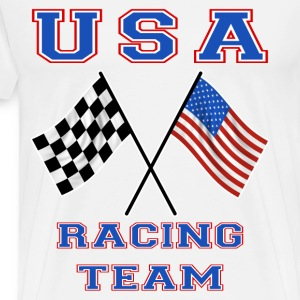 usa racing team Tee shirts manches longues - T-shirt Premium Homme