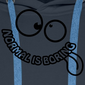 Normal Is Boring Smiley Camisetas - Sudadera con capucha premium para hombre