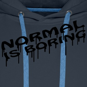 Normal Is Boring Graffiti Camisetas - Sudadera con capucha premium para hombre