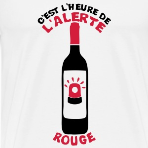alerte rouge bouteille vin pinard gyroph Sweat-shirts - T-shirt Premium Homme