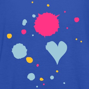 Blobs of paint, drop and heart Shirts - Women's Tank Top by Bella