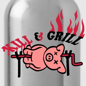 Kill And Grill Pig T-Shirts - Water Bottle