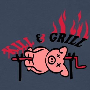 Kill And Grill Pig T-shirts - Mannen Premium shirt met lange mouwen