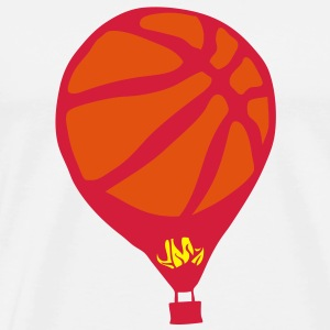 montgolfiere basketball ballon flamme Sweat-shirts - T-shirt Premium Homme
