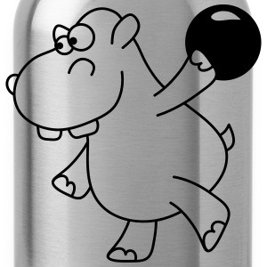 Hippo Bowling T-Shirts - Trinkflasche
