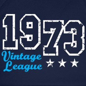 Vintage League 1973 Birthday Design T-Shirt - Baseballcap