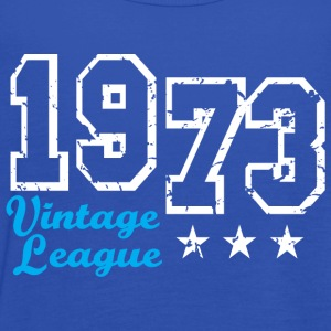Vintage League 1973 Birthday Design T-Shirt - Top da donna della marca Bella