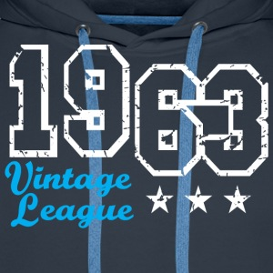Vintage League 1963 Birthday Design T-Shirt - Mannen Premium hoodie