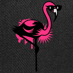Flamingo mit Sonnenbrille Pullover & Hoodies - Snapback Cap