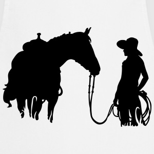horse and woman Camisetas - Delantal de cocina